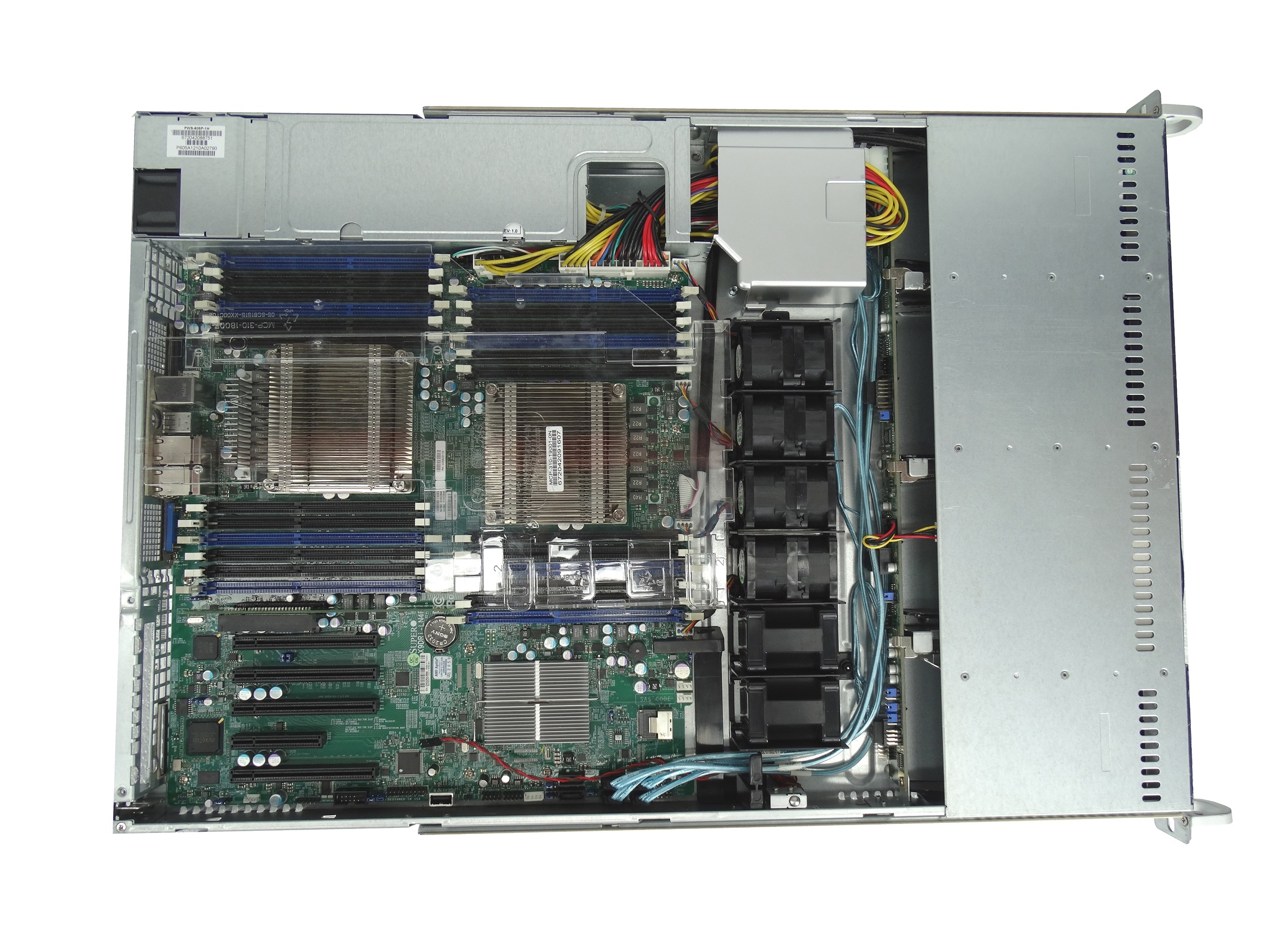 Supermicro SuperChassis CSE-815TQ 4-Bay 1U Rackmount Server with  X9DRi-LN4F+ Motherboard