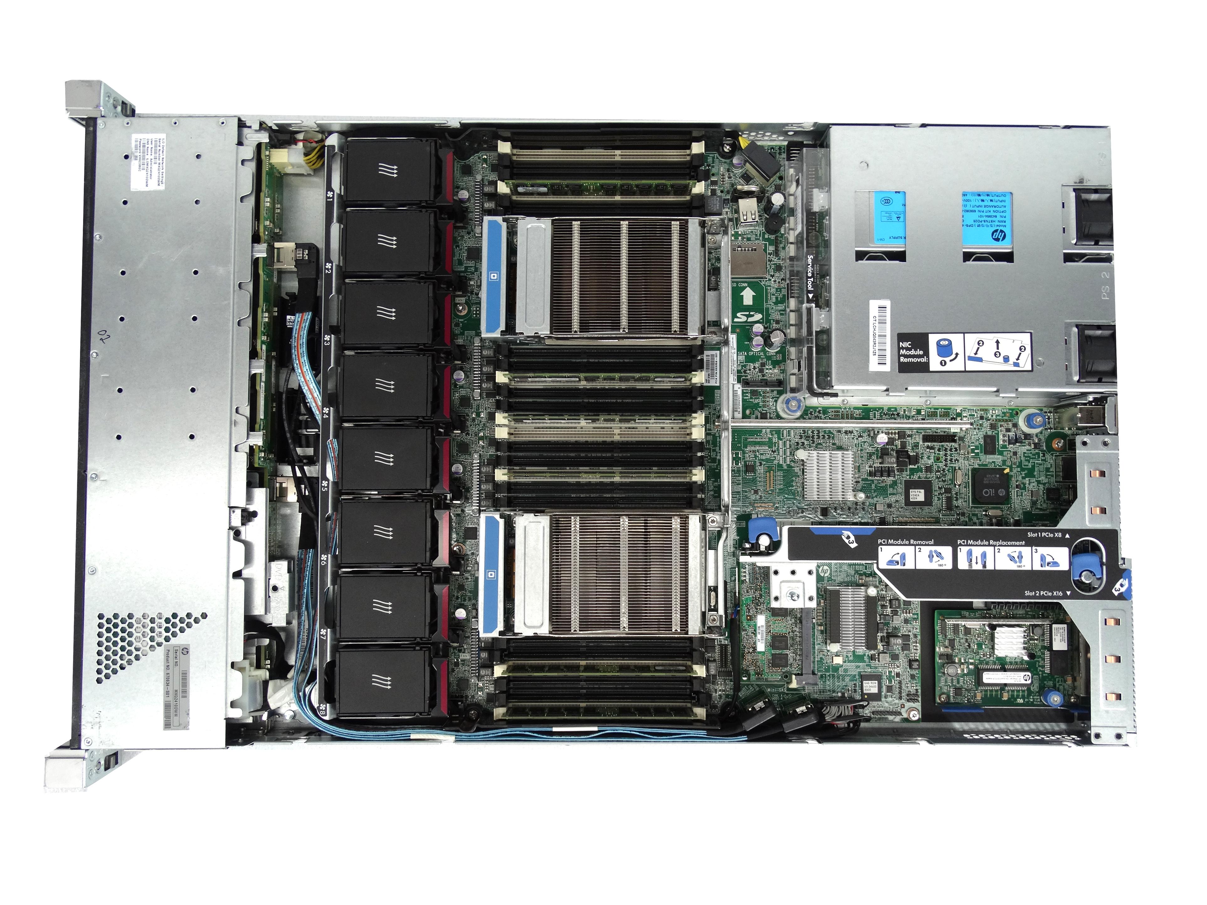 HP ProLiant DL360p Gen 8 8-Bay SFF 1U Rackmount Server
