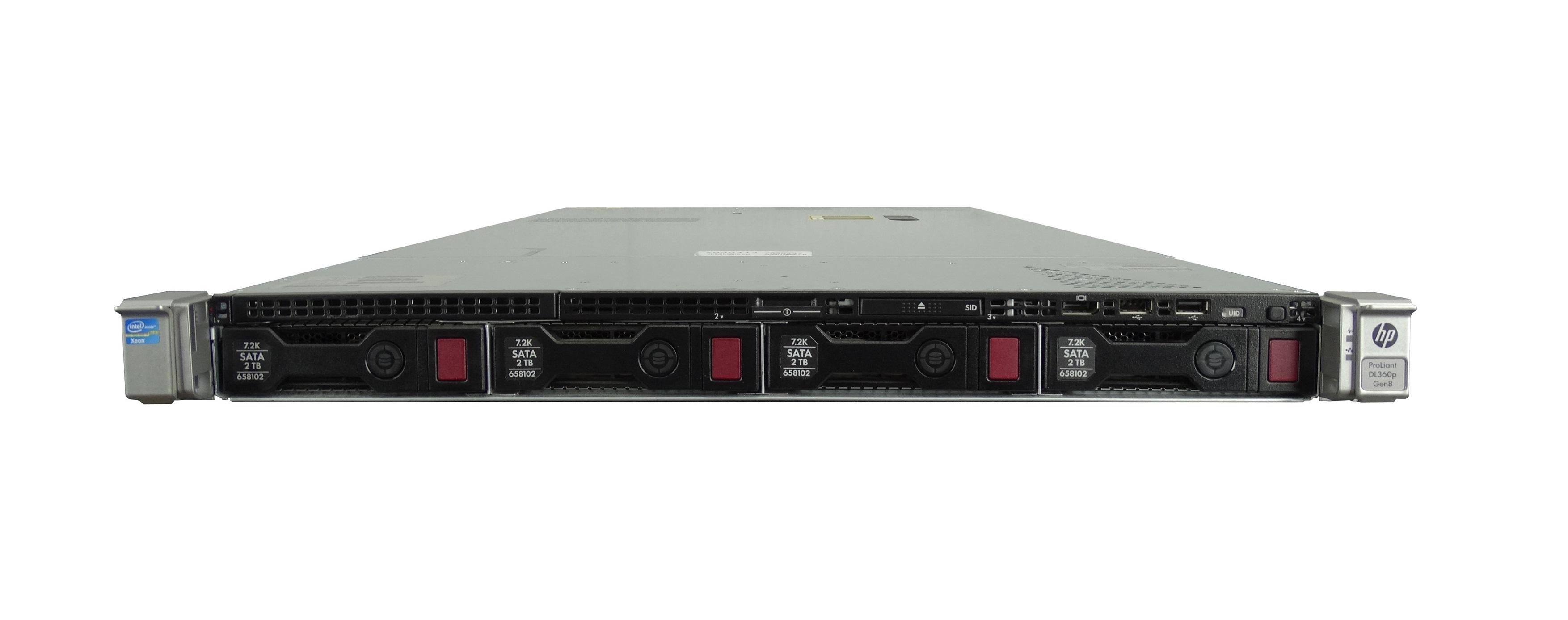HP ProLiant DL360p Gen 8 4 Bay LFF 1U Rackmount Server