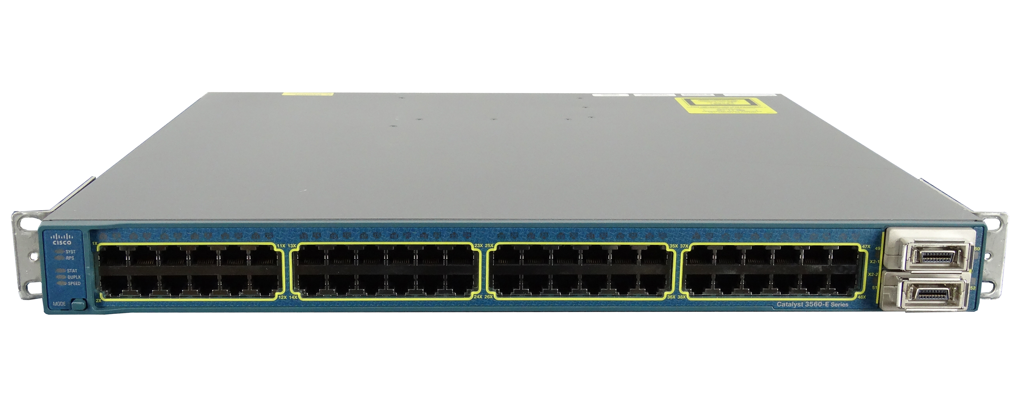 Cisco 3560E 48-Port Gigabit Ethernet Switch W/ 2x X2-10GB-CX4 | MET Servers