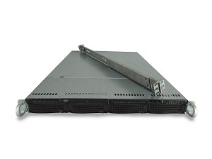 Supermicro SuperChassis CSE-815TQ 4-Bay LFF 1U Rackmount Server with X9SCi-LN4F Motherboard