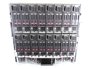 HP ProLiant c7000 Chassis with 16x BL460c Gen 8 Blade Server